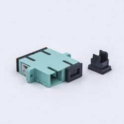 Adapter SC duplex OM3 aqua